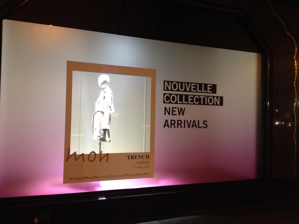 Vitrines des Galeries Lafayette Haussmann Paris