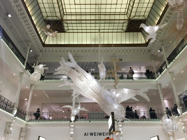 The song of White - Ai Weiwei au Bon Marché
