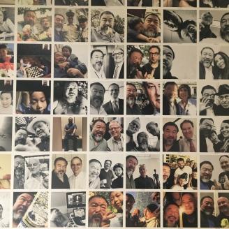 Le mur de selfie - Ai Weiwei au Bon Marché