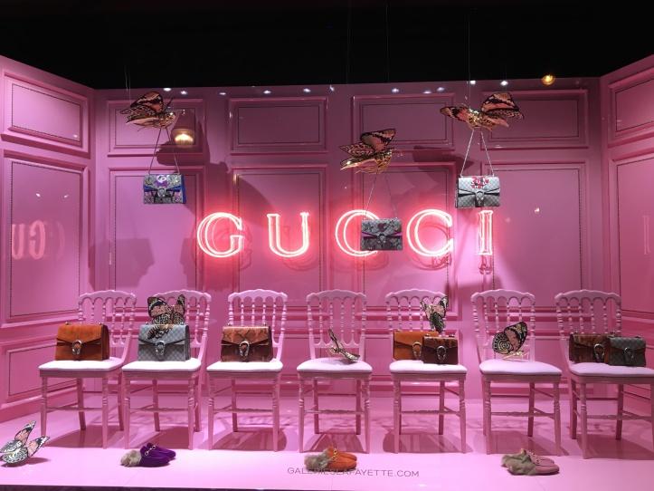 Vitrine Gucci Galeriesafayette- front row